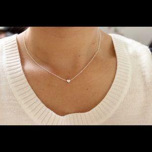 TINY HEART NECKLACE, HEART PENDANT, jewellery